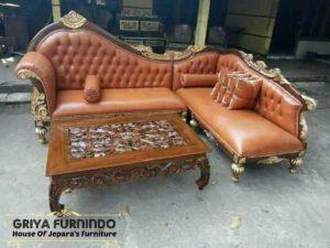Sofa Ukir Terbaru Model Sudut