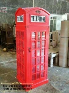 Lemari Pajangan Telephone
