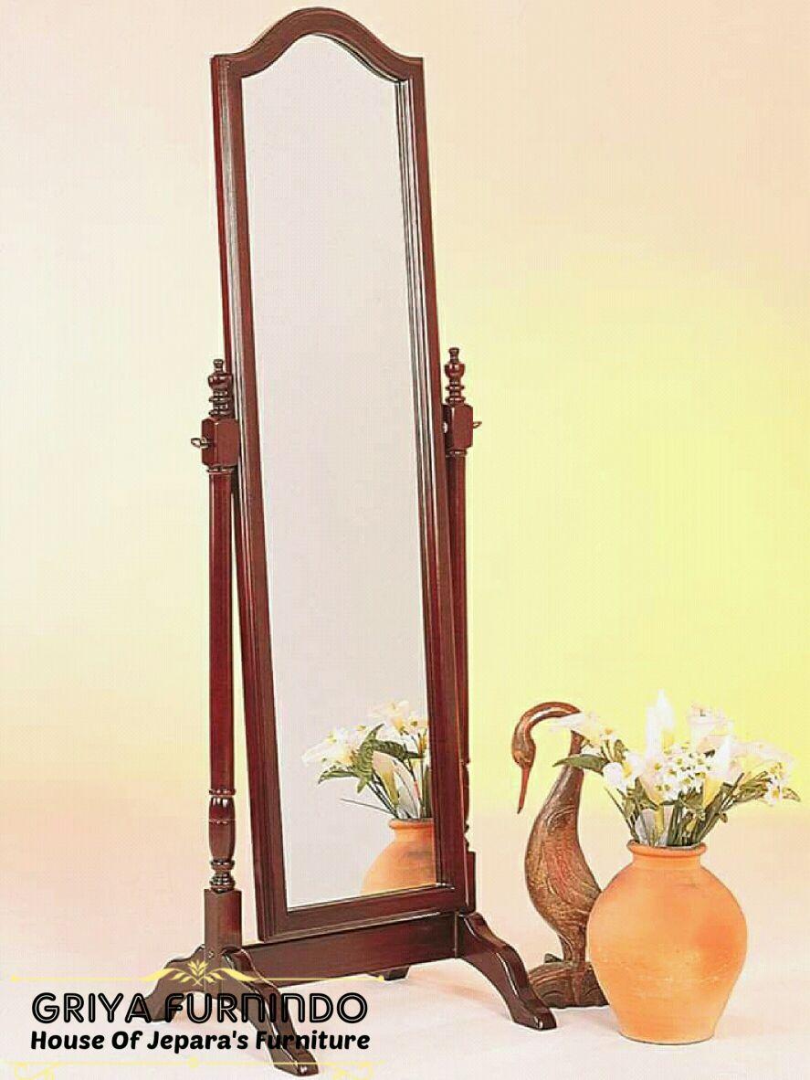 Pigura Cermin Goyang Jati