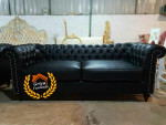 Sofa Mewah Chesterfield Black