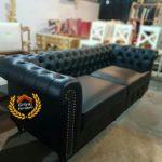 Sofa Mewah Chesterfield Black