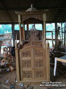 FB IMG 15772022617903288 wm 225x300 - Mimbar Masjid Ukir Terbaru