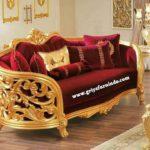 Sofa Ukir Mewah Gold
