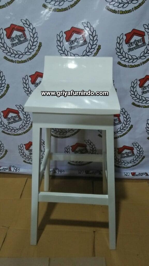Kursi Bar Kayu Jati Putih Duco